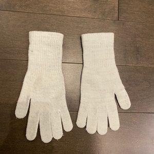 White sparkly gloves